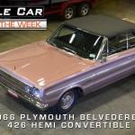 1966 Plymouth Belvedere II 426 Hemi Convertible