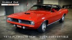 First Hemi 'Cuda Convertible Ever Built