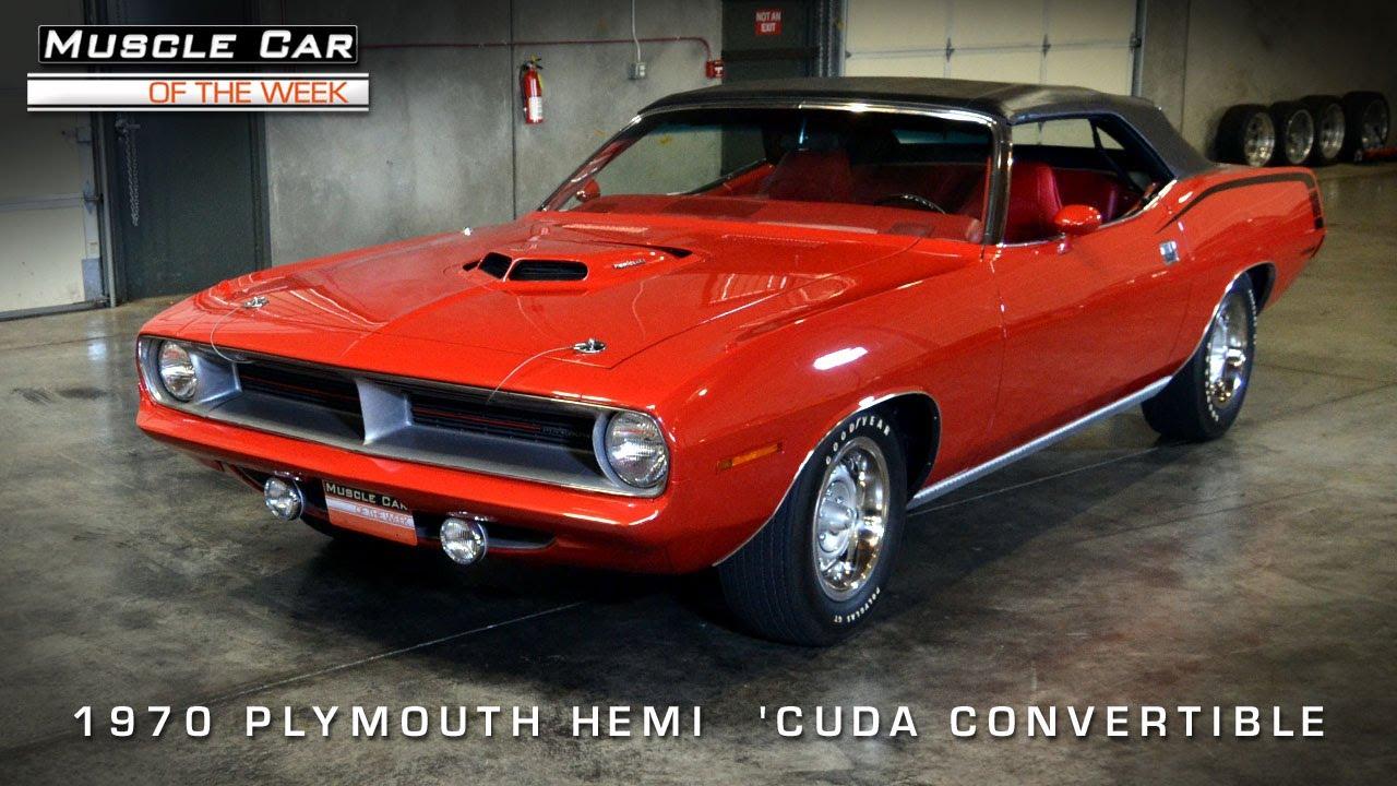First Hemi \'Cuda Convertible Ever Built -