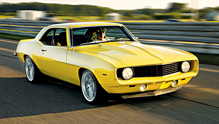 Jackass 2.0:  Mark Stielow takes the yellow '69 Camaro to the next level